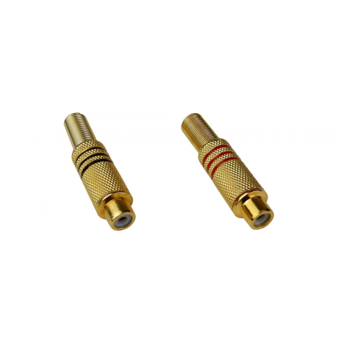 GOLD-PLATED RCA JACKS W/ STRAIN RELIEF