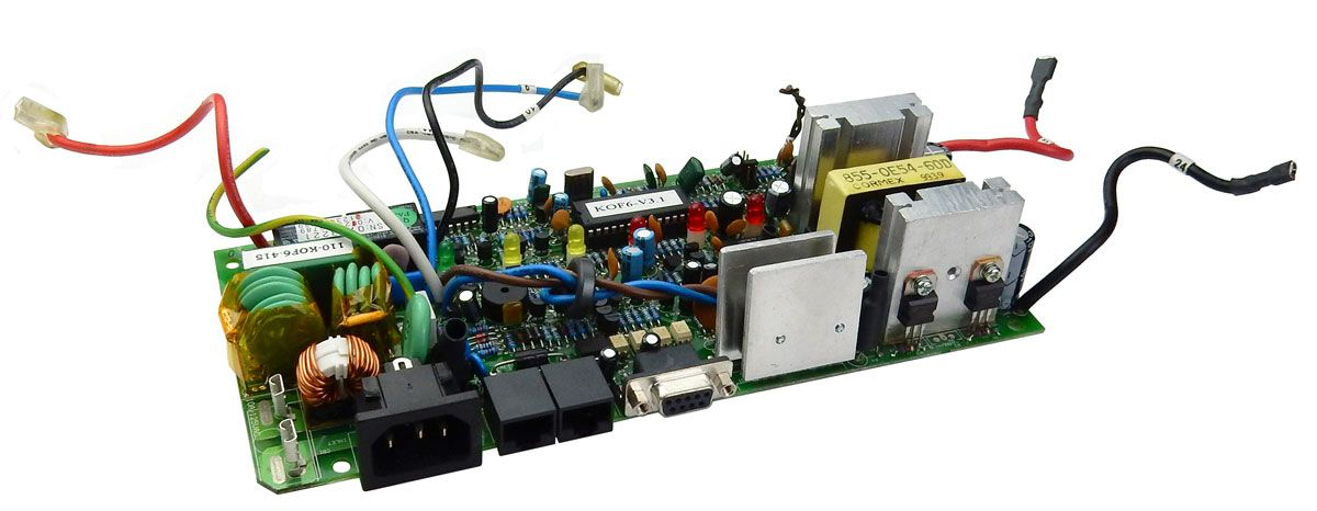 PC BOARD WITH ASSORTED PARTS