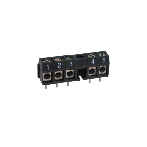 6-POS. PC MOUNT T. STRIP W/ NULL POSITION, NUM. 1-5