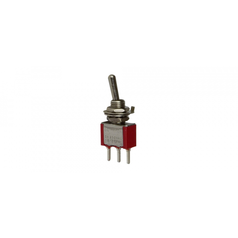 SPDT ON-ON MINI TOGGLE SWITCH, PC PINS