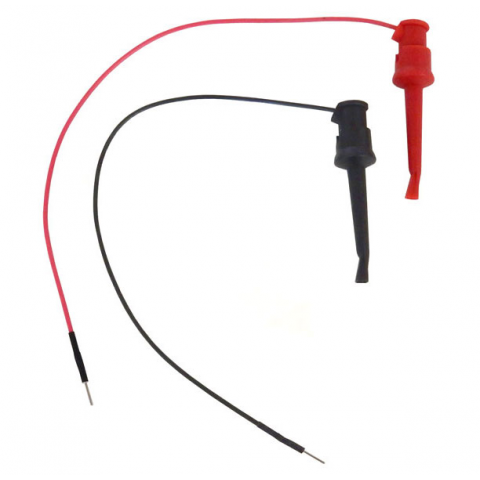 MINI GRABBER JUMPER WIRE, 2 PC SET, BLK & RED