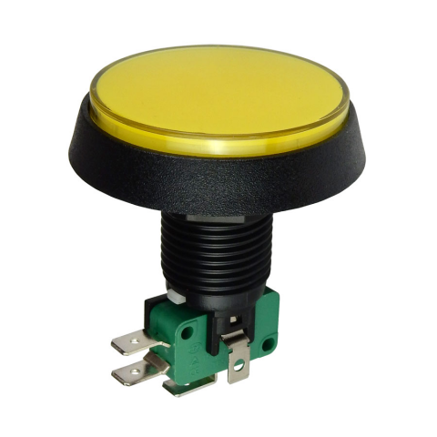 "12V LIGHTED PUSHBUTTON, 2"" YELLOW LENS"