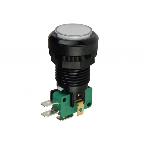 "12V LIGHTED PUSHBUTTON, 1"" WHITE LENS"