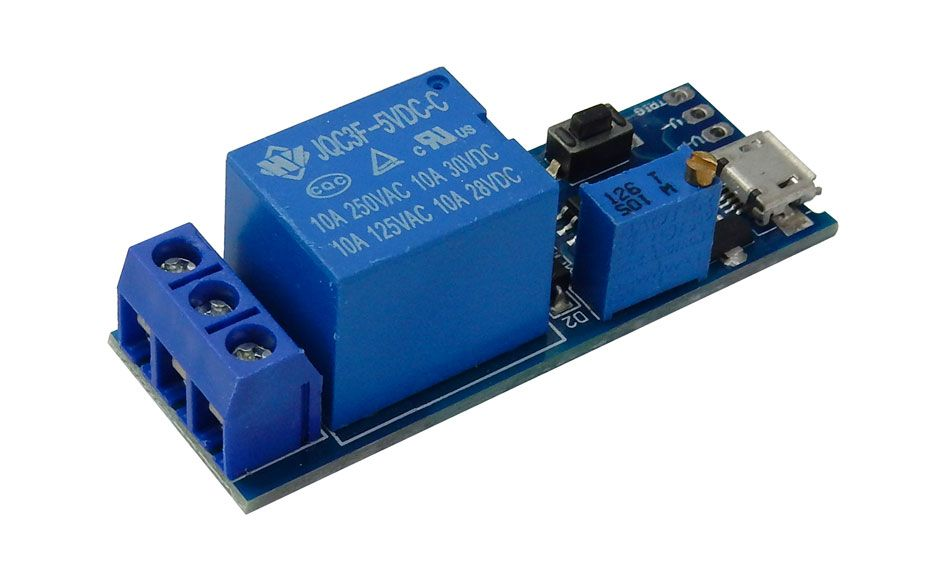 RELAY MODULE WITH 0-25 SECOND TIMER