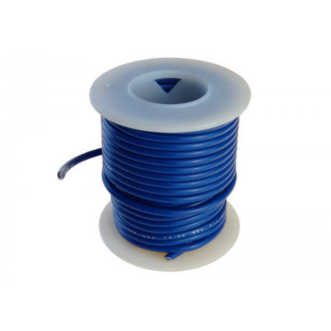14 GA BLUE HOOK UP WIRE, STR 25'