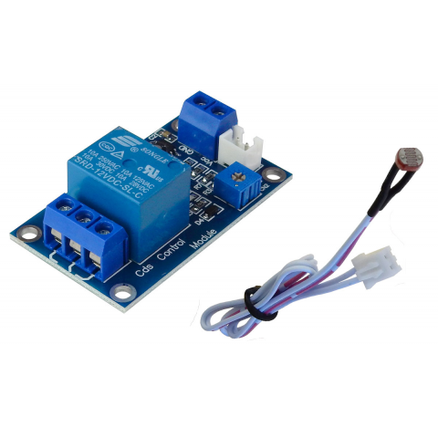 LIGHT-ACTUATED RELAY MODULE, 12 VDC