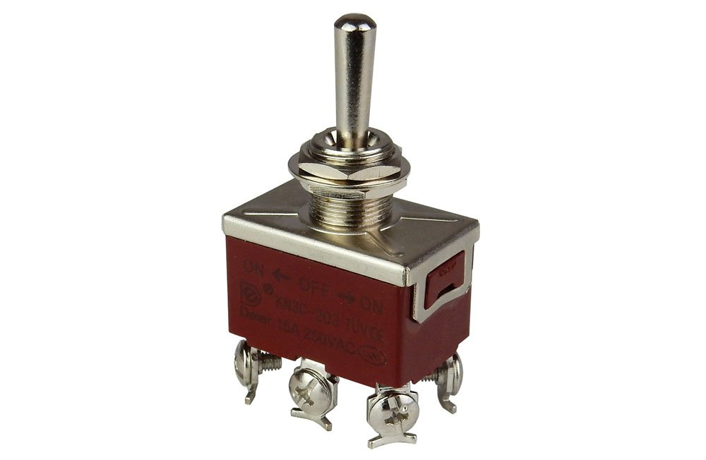 DPDT ON-OFF-ON TOGGLE SWITCH