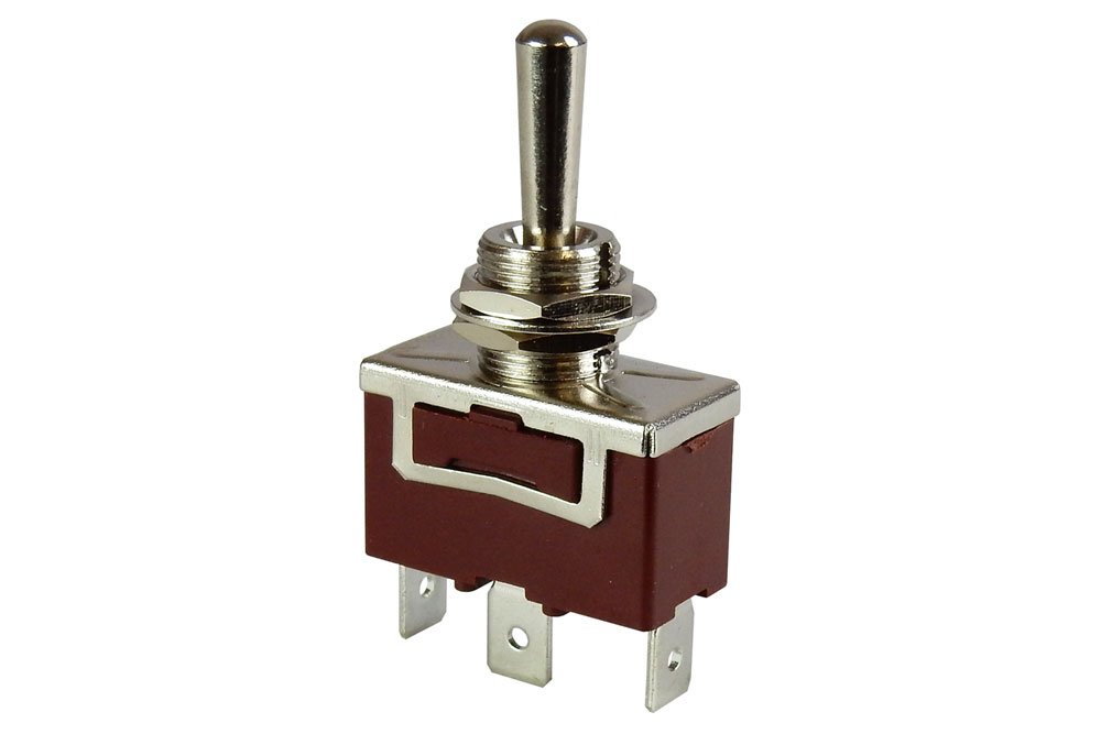 SPDT, CENTER-OFF HEAVY-DUTY TOGGLE SWITCH
