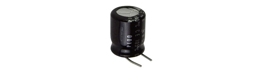 470 UF 10V 105C ELECTROLYTIC CAPACITOR, BENT LEADS