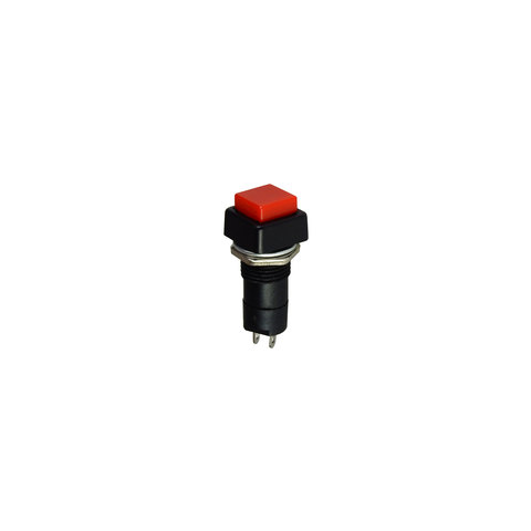 SQUARE PUSH BUTTON SWITCH, RED