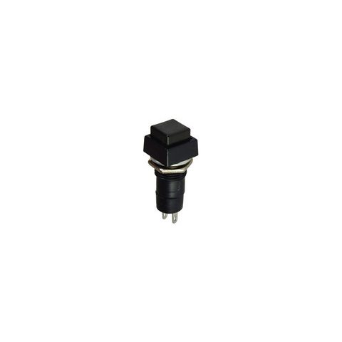 SQUARE PUSH BUTTON SWITCH, BLACK