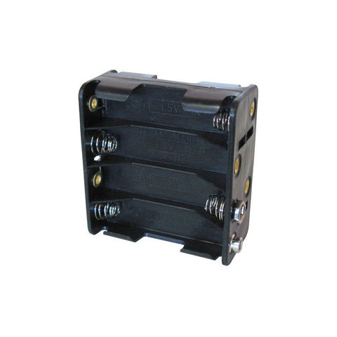 8AA CELL BATTERY HOLDER W/ 9V BATTERY SNAPS