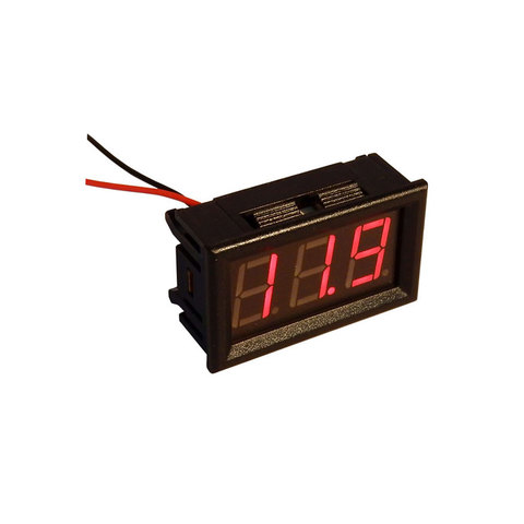 3.3-30 VDC RED DIGITAL PANEL METER