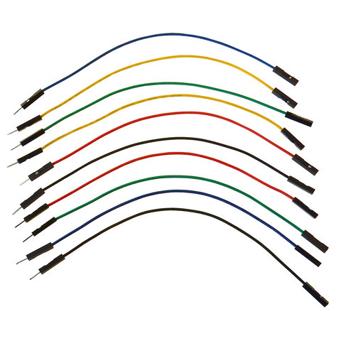 "6"" JUMPER WIRES, M/F 10-PACK"