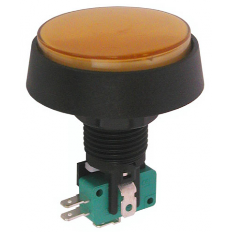 "12V LIGHTED PUSHBUTTON, 2"" AMBER LENS"