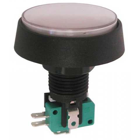 "12V LIGHTED PUSHBUTTON, 2"" WHITE LENS"