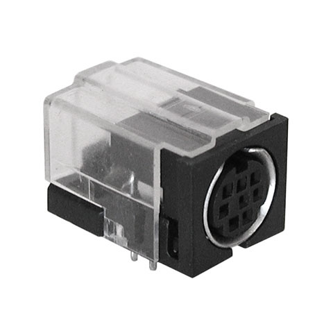 8 COND. MINI-DIN JACK, PC MOUNT