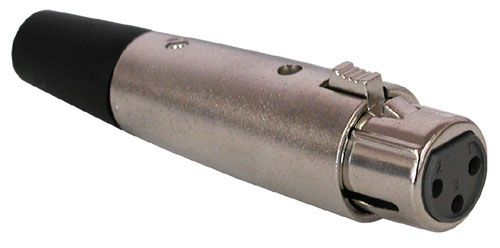 3 PIN FEMALE IN-LINE XLR CONNECTOR