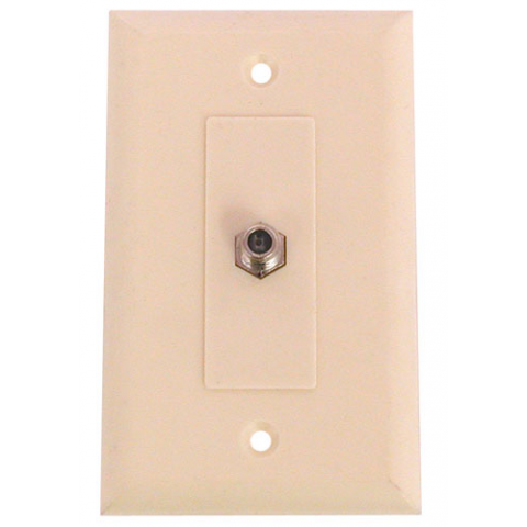 WALL PLATE W/ F-CONNECTOR