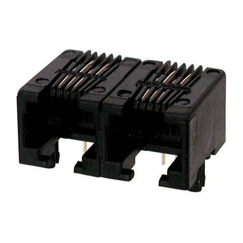 DUAL 4 PIN PC MOUNT MODULAR JACK