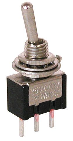 spdt on on mini toggle switch pc pins all electronics corp rh allelectronics com
