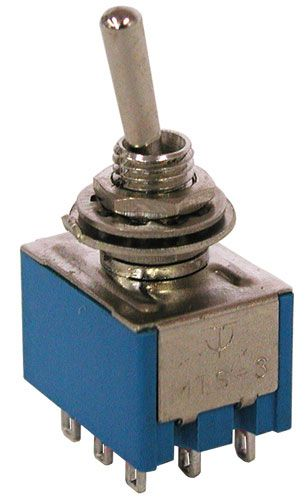 3pdt On On Mini Toggle Switch All Electronics Corp