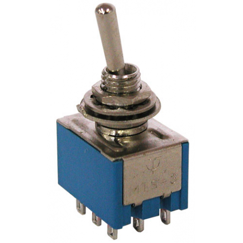 3PDT ON-ON MINI-TOGGLE SWITCH