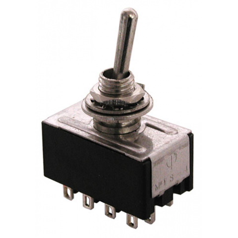 4PDT, ON-ON MINI-TOGGLE SWITCH