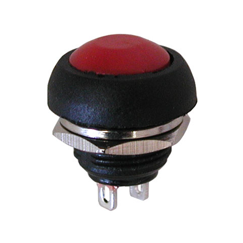 SPST N.O. PUSHBUTTON, RED