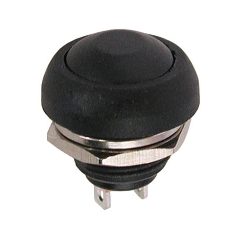 SPST N.O. PUSHBUTTON, BLACK