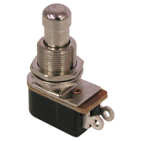 MOMENTARY PUSHBUTTON, SPST N.O. 4 AMP