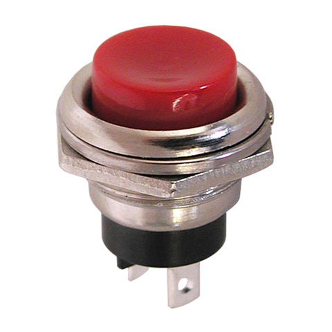N.C. MOMENTARY PUSHBUTTON, RED