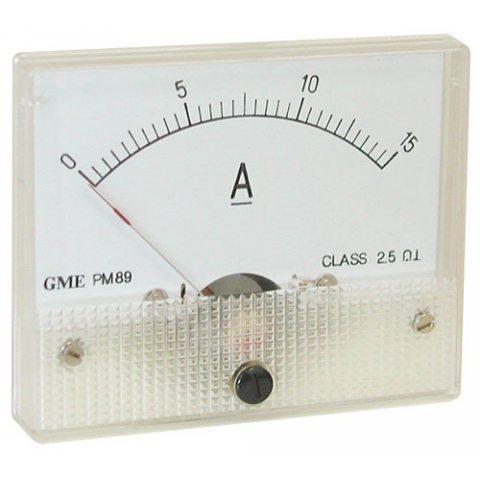 15A DC PANEL METER