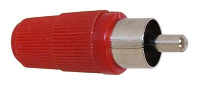 RED PLASTIC HANDLE RCA PLUG