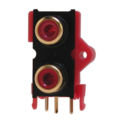 2 RCA JACKS, PC MOUNT
