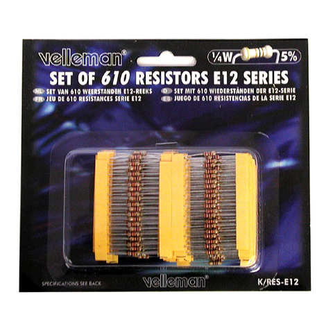 610 1/4 WATT RESISTOR ASSORTMENT