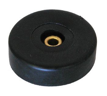 "HARD RUBBER FOOT, 1.46"" X 0.41"" H"
