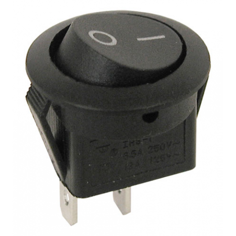 Spst Round Rocker Switch All Electronics Corp