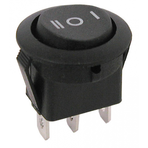 SPDT CENTER-OFF ROUND ROCKER SWITCH