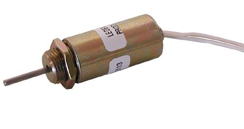 Miniature 12vdc Push Type Solenoid All Electronics Corp