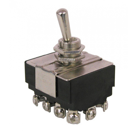 4PDT, ON-ON TOGGLE SWITCH