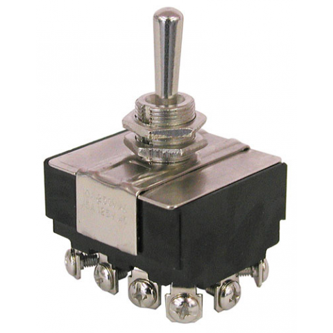 4PDT, ON-OFF-ON TOGGLE SWITCH